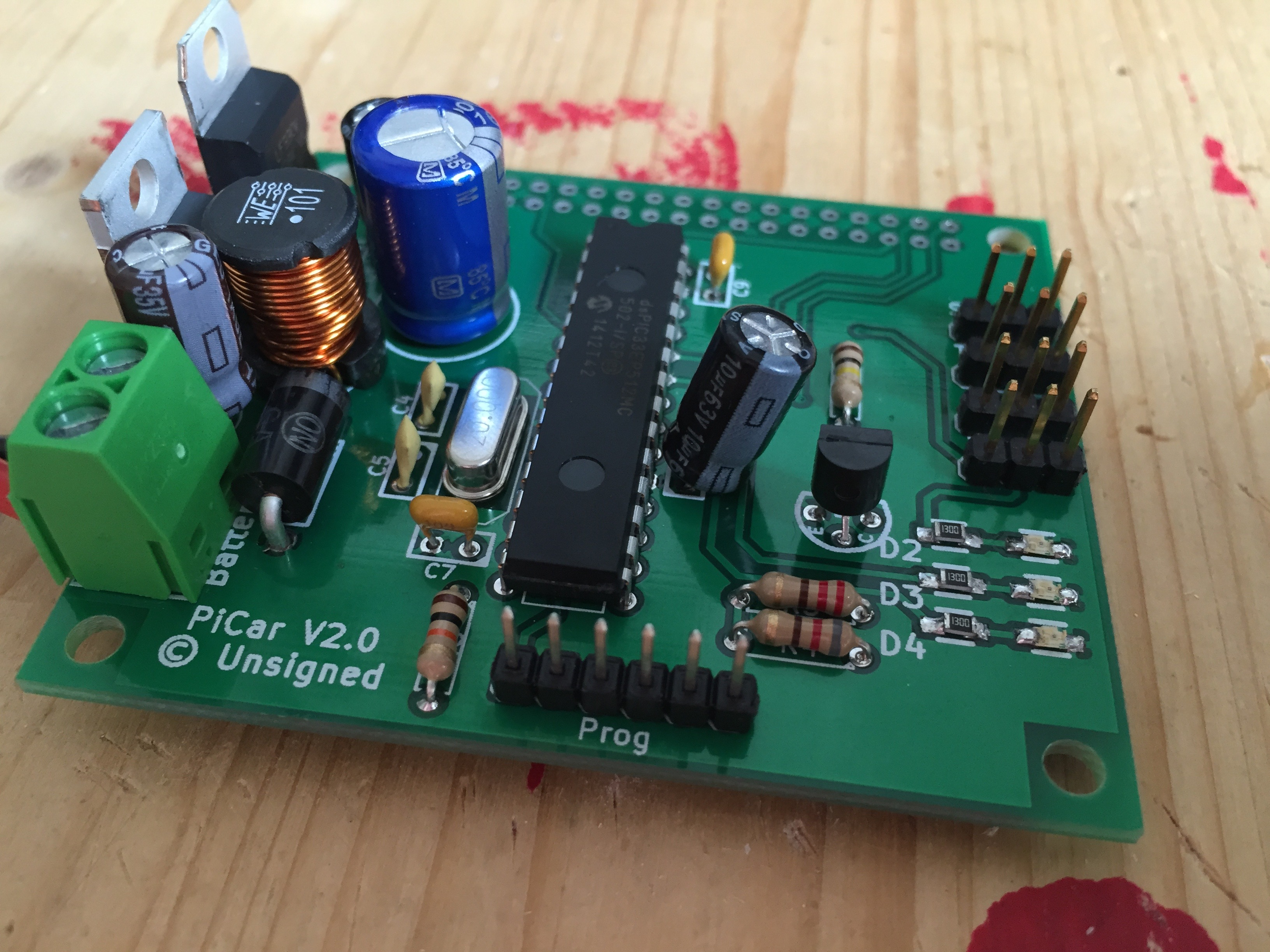 Unsigned Servoblaster Wiringpi I Am Still Testing The Board Power Part Is Working Fine Have 5v And 33v From 12v Input Pic Also Can Communicate With